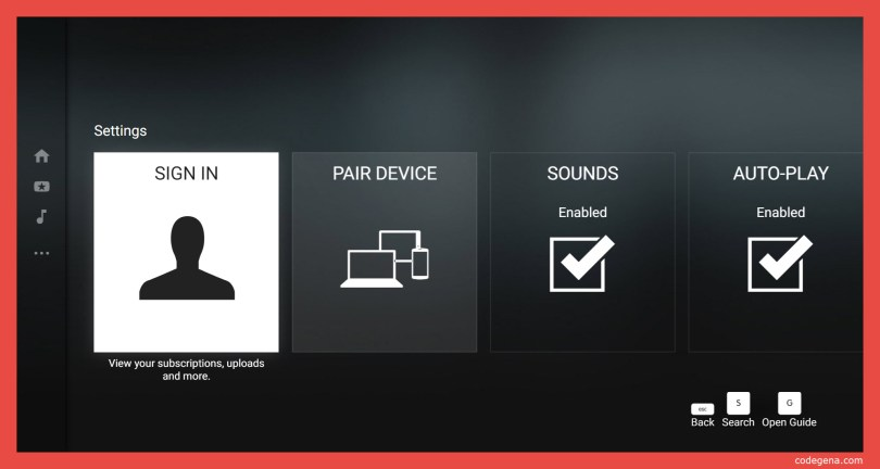 Youtube TV-remote control with smartphone