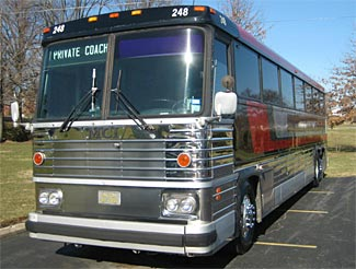 Coaches such as this 1982 MCI 47 seater are about as generic and ordinary looking as possible.