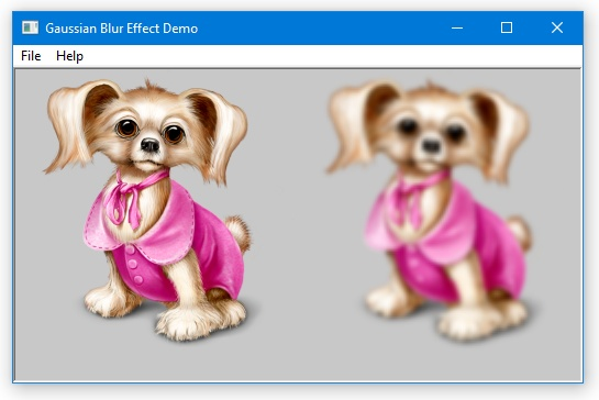 Gaussian Blur Effect - Demo Project