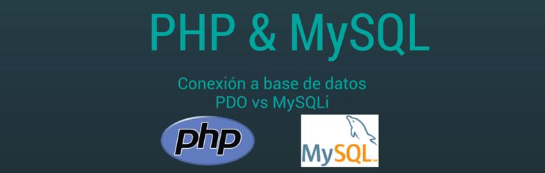 PHP & MySQL - Conexión a base de datos