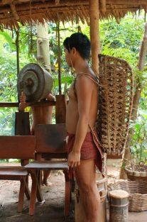 Indigenous tribe backpack, Puerto Princesa, Philippines