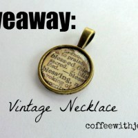 My One Word Necklace: This Month's Giveaway