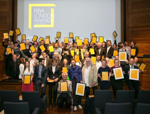 Award winners pictured at the RIBA London 2017 Awards Evening held at RIBA Portland Place, London. Photo credit: Agnese Sanvito