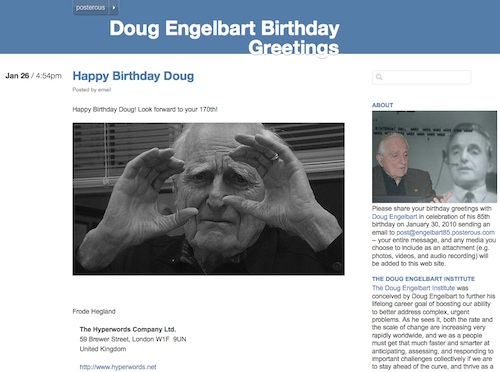 Doug Engelbart at 85 site