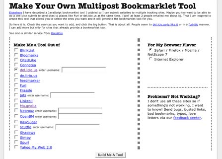 Bookmarket Maker Screen Shot