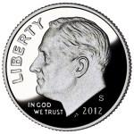 2012-S Roosevelt Dime Proof Obverse