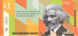 Baltimore BN1 BNote with portrait of Frederick Douglass