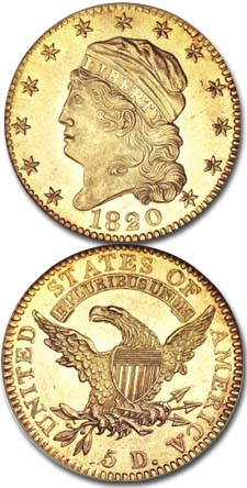 1820-Five-Dollar-Gold