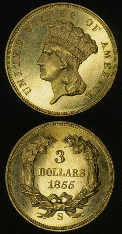 1855s-3-dollar-gold-piece