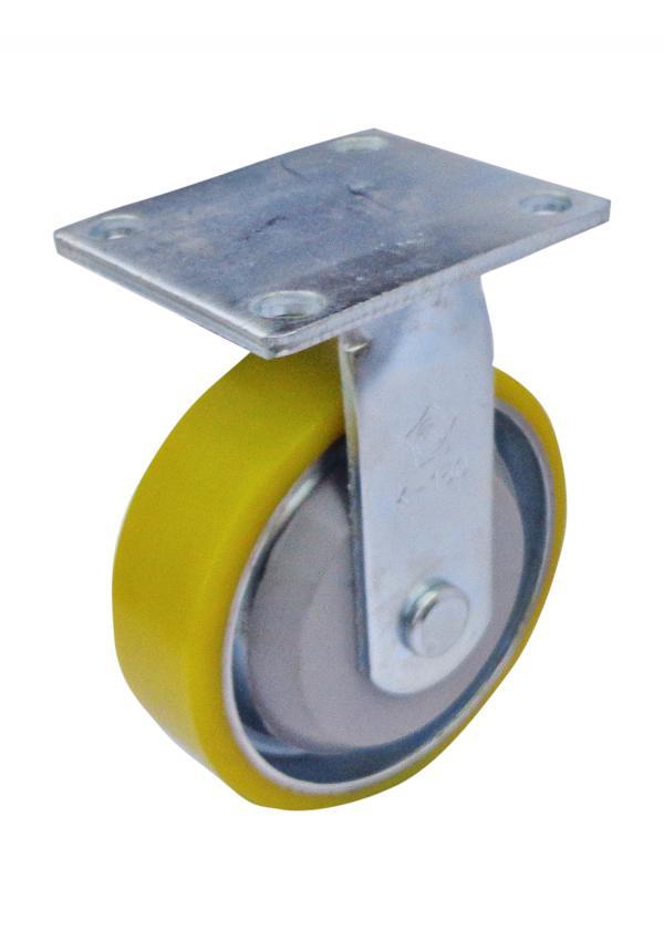 bánh xe Càng K cố định, bánh xe PU lõi thép