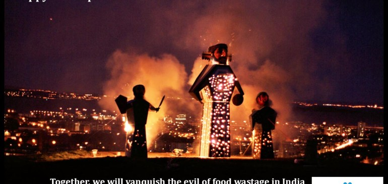 Together We Will Vanquish the Evil of #FoodWastage, #HappyDussehra