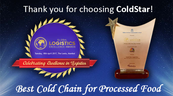ColdStar wins 'Best Cold Chain for Processed Food' Award 🏆