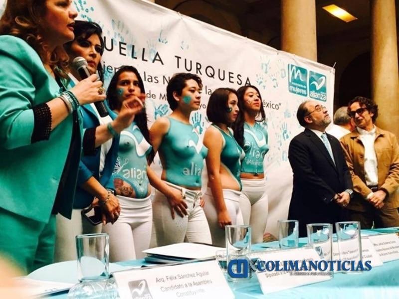 Nueva Alianza cierra campaña con chicas en body paint