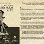 Playboy condoms convoca al 2º.Concurso de Cartel: CON CONDÓN TE SIENTES MEJOR