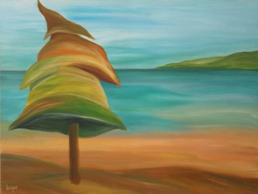 rainbow tree 36x48 painting janet bright art