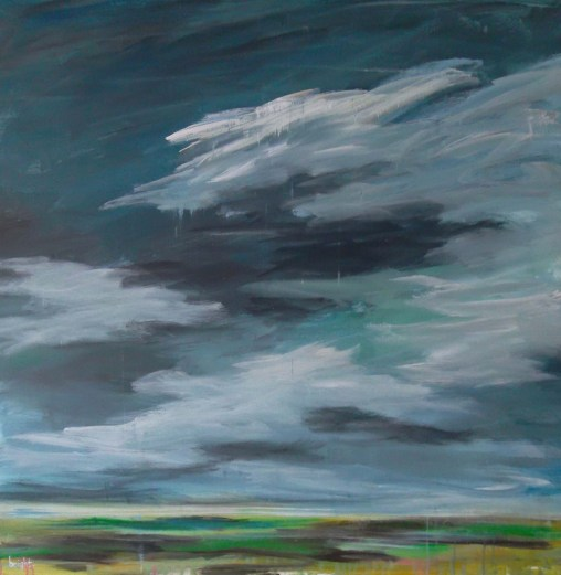 ice cloud landscape painting clouds buying canadian art janet bright