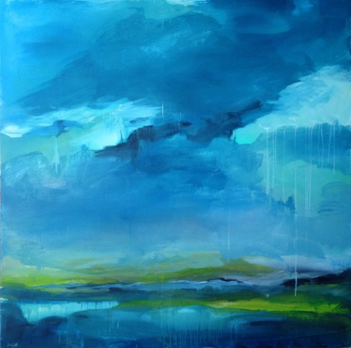 rain fall landscape painting clouds buying canadian art janet bright