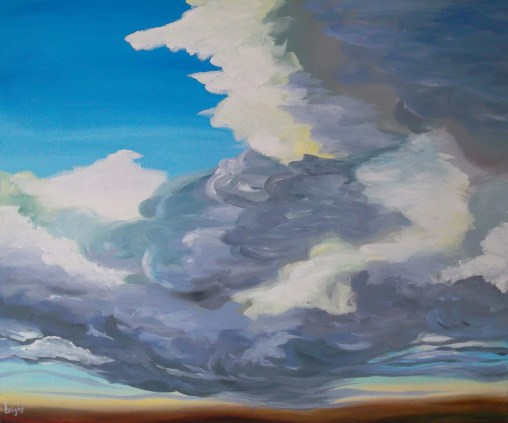 rising cloud landscape painting clouds buying canadian art janet bright