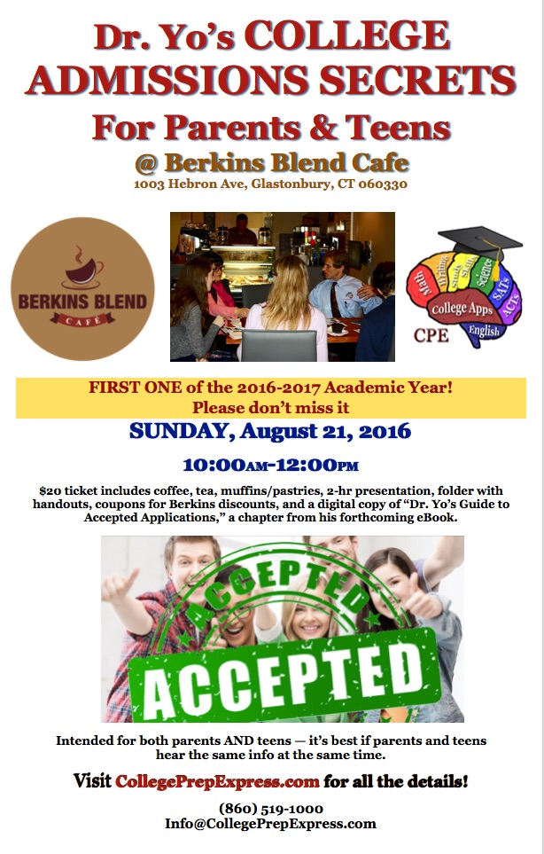 College Admissions Secrets Berkins Blend 8-21-16