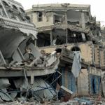 Casa destruida en la ciudad de Sa'ada, durante los enfrentamientos en Yemen © Philippe Krops/OCHA