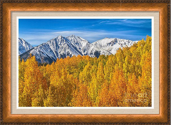 Mountain Autumn Beauty Framed Print