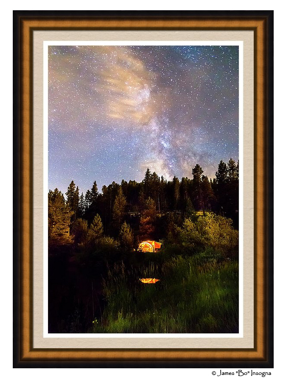 Milky Way Wings Framed Print