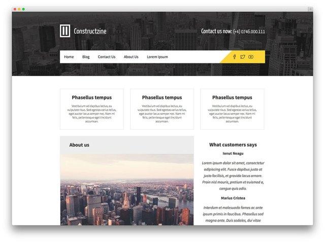 Constructzine WordPress theme