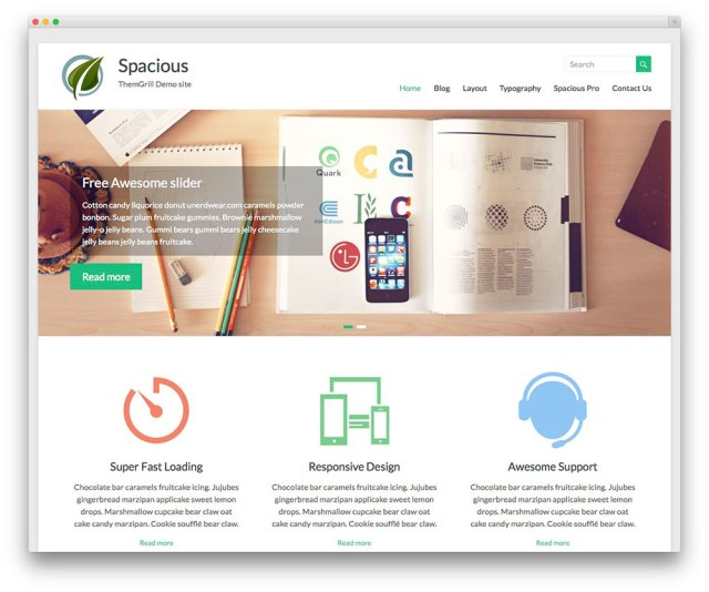 Spacious - free WP template