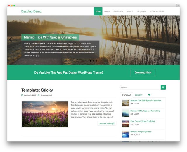 Dazzling - Free Business WordPress theme