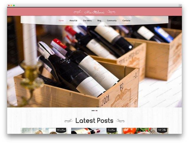 Free Restaurant WordPress Theme