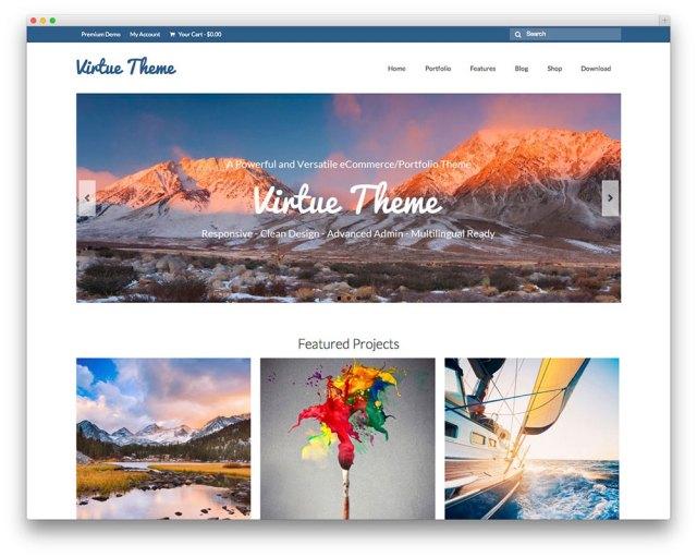Virtue - free multipurpose theme