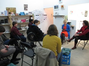 Kirsten Krauth just_a_girl book reading and interview with Angela Savage at Colour Box Studio