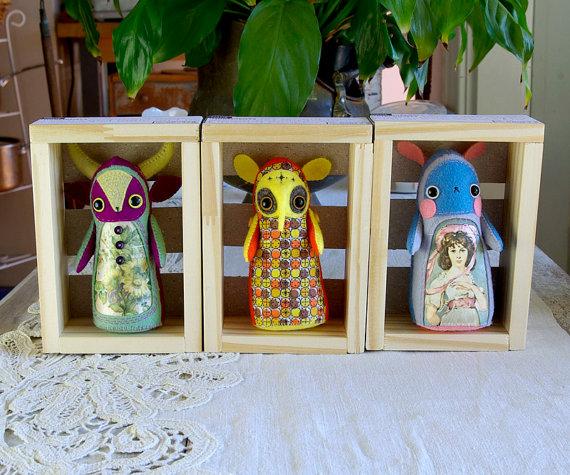 Hannakin Art Dolls- available Colour Box Studio Summer Pop Up Shop