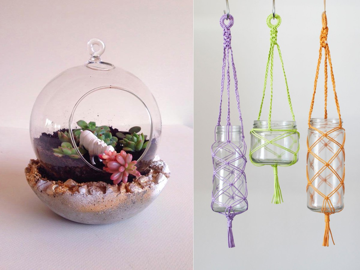 DIY Terrarium, Pot & Macramé Hanger: Double Workshop – September 2015