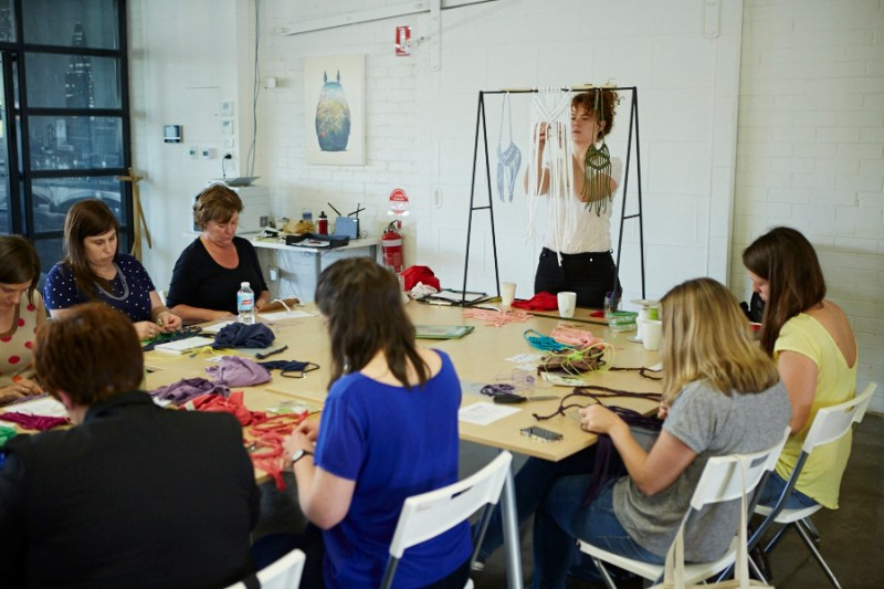 Macrame workshop with Kirri-mae Sampson of Mae Smyth presented by Colour Box Studio. Image provided.