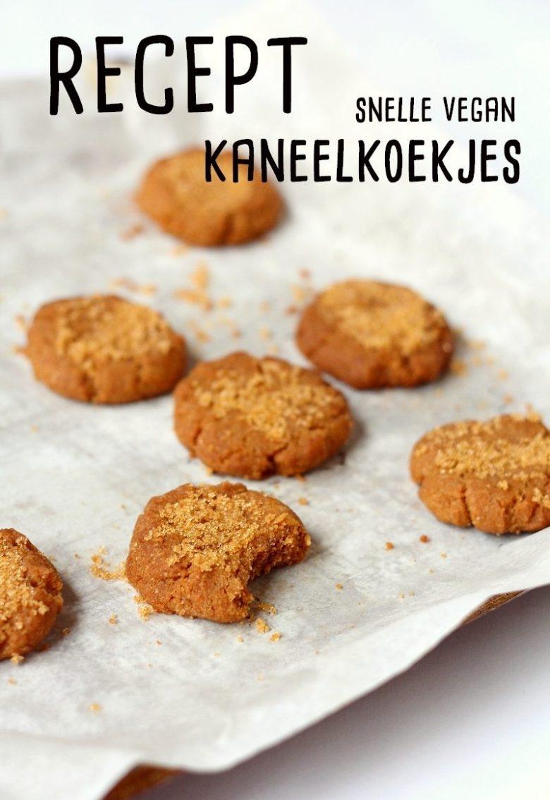 Recept snelle vegan kaneelkoekjes Pinterest