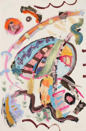 Paint-Draw 10 (Ode to Kandinsky), 48 x 31 cm, mixed media on paper, 2015.