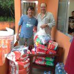 Doações entregues ao Abrigo em Guaratiba