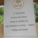 O Encontro realizou-se em Guapimirim - RJ, sítio gentilmente cedido pelo Ir.·. Sidney Dantas