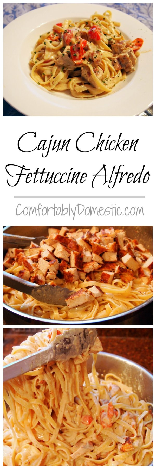 Cajun Chicken Fettucine Alfredo - Get the recipe on ComfortablyDomestic.com
