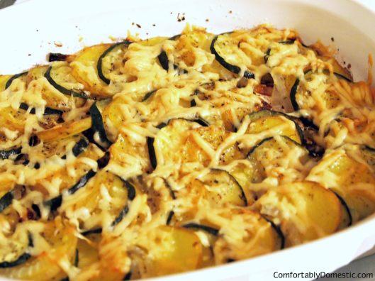 Potato-Zucchini Gratin | ComfortablyDomestic.com
