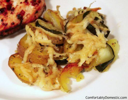 Potato and Zucchini Gratin | ComfortablyDomestic.com