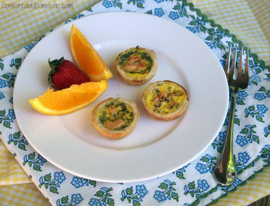 Smoked Salmon Quiche Bites | ComfortablyDomestic.com