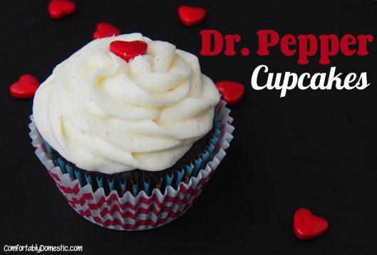 Dr. Pepper Cupcakes | ComfortablyDomestic.com