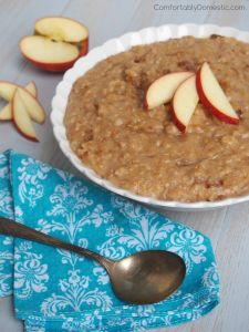 Slow Cooker Apple Cinnamon Steel Cut Oats – A Better Breakfast Recipe for Back to School