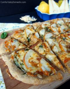 Pear and Caramelized Onion Flatbread