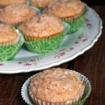 Pretty on the Inside: Oat Bran Muffins with Crumb Topping