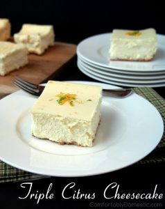 Triple Citrus Cheesecake