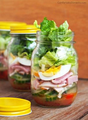 Chef Salads in a Jar