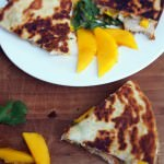 Chicken and Mango Quesadillas with Brie